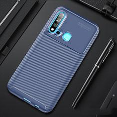 Custodia Silicone Cover Morbida Spigato per Huawei P20 Lite (2019) Blu