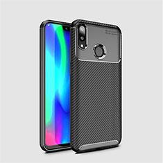 Custodia Silicone Cover Morbida Spigato per Huawei Y7 Pro (2019) Nero
