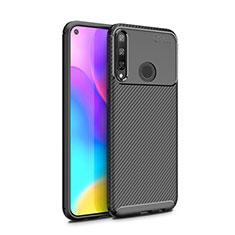 Custodia Silicone Cover Morbida Spigato per Huawei Y7p Nero