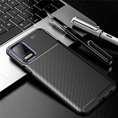Custodia Silicone Cover Morbida Spigato per LG K52 Nero