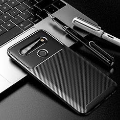 Custodia Silicone Cover Morbida Spigato per LG K61 Nero