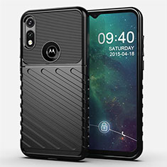 Custodia Silicone Cover Morbida Spigato per Motorola Moto E (2020) Nero