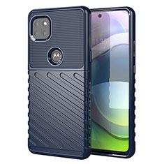 Custodia Silicone Cover Morbida Spigato per Motorola Moto G 5G Blu