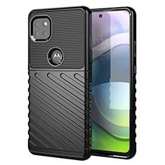 Custodia Silicone Cover Morbida Spigato per Motorola Moto G 5G Nero