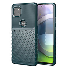 Custodia Silicone Cover Morbida Spigato per Motorola Moto G 5G Verde