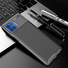 Custodia Silicone Cover Morbida Spigato per Motorola Moto One 5G Nero