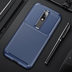 Custodia Silicone Cover Morbida Spigato per Nokia 4.2 Blu