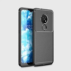 Custodia Silicone Cover Morbida Spigato per Nokia 6.2 Nero