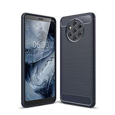Custodia Silicone Cover Morbida Spigato per Nokia 9 PureView Blu