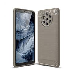 Custodia Silicone Cover Morbida Spigato per Nokia 9 PureView Grigio