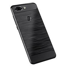 Custodia Silicone Cover Morbida Spigato per OnePlus 5T A5010 Nero