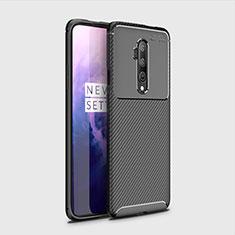 Custodia Silicone Cover Morbida Spigato per OnePlus 7T Pro Nero