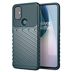 Custodia Silicone Cover Morbida Spigato per OnePlus Nord N10 5G Verde