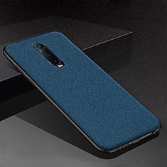 Custodia Silicone Cover Morbida Spigato per Oppo R17 Pro Blu
