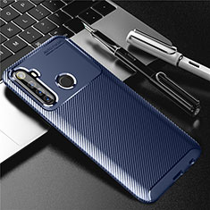 Custodia Silicone Cover Morbida Spigato per Realme 6i Blu