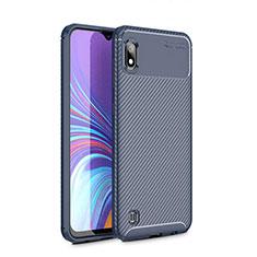 Custodia Silicone Cover Morbida Spigato per Samsung Galaxy A10 Blu