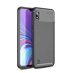 Custodia Silicone Cover Morbida Spigato per Samsung Galaxy A10 Nero
