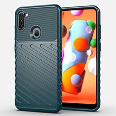 Custodia Silicone Cover Morbida Spigato per Samsung Galaxy A11 Verde