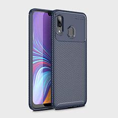 Custodia Silicone Cover Morbida Spigato per Samsung Galaxy A30 Blu