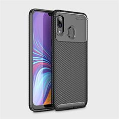 Custodia Silicone Cover Morbida Spigato per Samsung Galaxy A40 Nero