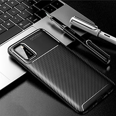 Custodia Silicone Cover Morbida Spigato per Samsung Galaxy A41 Nero