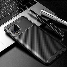 Custodia Silicone Cover Morbida Spigato per Samsung Galaxy A42 5G Nero