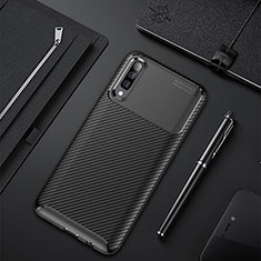 Custodia Silicone Cover Morbida Spigato per Samsung Galaxy A50 Nero