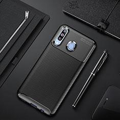 Custodia Silicone Cover Morbida Spigato per Samsung Galaxy A60 Nero