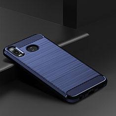 Custodia Silicone Cover Morbida Spigato per Samsung Galaxy A6s Blu