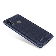Custodia Silicone Cover Morbida Spigato per Samsung Galaxy A8 Star Blu