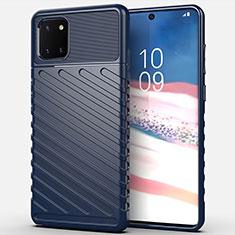 Custodia Silicone Cover Morbida Spigato per Samsung Galaxy A81 Blu