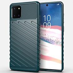 Custodia Silicone Cover Morbida Spigato per Samsung Galaxy A81 Verde