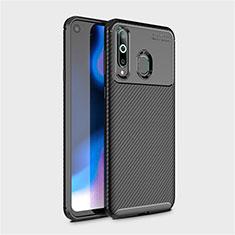 Custodia Silicone Cover Morbida Spigato per Samsung Galaxy A8s SM-G8870 Nero