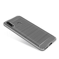 Custodia Silicone Cover Morbida Spigato per Samsung Galaxy A9 Star SM-G8850 Grigio