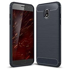 Custodia Silicone Cover Morbida Spigato per Samsung Galaxy Amp Prime 3 Blu