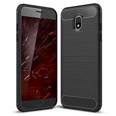 Custodia Silicone Cover Morbida Spigato per Samsung Galaxy Amp Prime 3 Nero