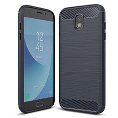 Custodia Silicone Cover Morbida Spigato per Samsung Galaxy J5 (2017) Duos J530F Blu