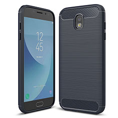 Custodia Silicone Cover Morbida Spigato per Samsung Galaxy J5 (2017) SM-J750F Blu