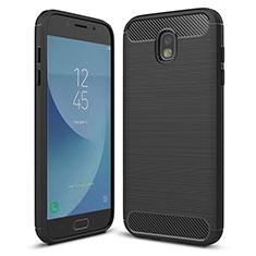 Custodia Silicone Cover Morbida Spigato per Samsung Galaxy J5 (2017) SM-J750F Nero