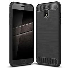 Custodia Silicone Cover Morbida Spigato per Samsung Galaxy J7 (2018) J737 Nero