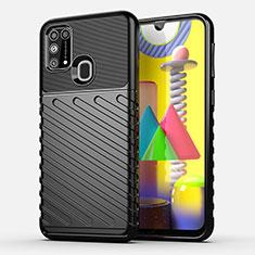 Custodia Silicone Cover Morbida Spigato per Samsung Galaxy M21s Nero