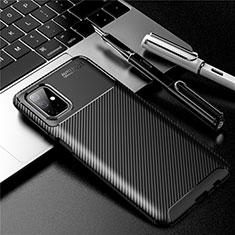 Custodia Silicone Cover Morbida Spigato per Samsung Galaxy M51 Nero