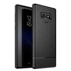 Custodia Silicone Cover Morbida Spigato per Samsung Galaxy Note 9 Nero