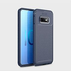 Custodia Silicone Cover Morbida Spigato per Samsung Galaxy S10e Blu
