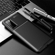 Custodia Silicone Cover Morbida Spigato per Samsung Galaxy S20 FE 5G Nero