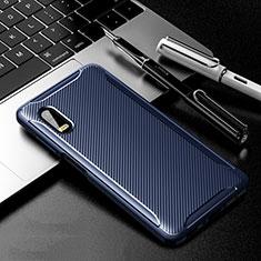 Custodia Silicone Cover Morbida Spigato per Samsung Galaxy XCover Pro Blu