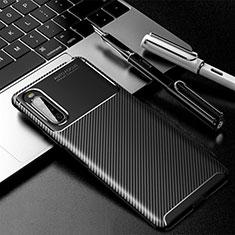 Custodia Silicone Cover Morbida Spigato per Sony Xperia 10 II Nero