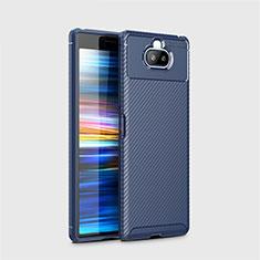 Custodia Silicone Cover Morbida Spigato per Sony Xperia 8 Lite Blu