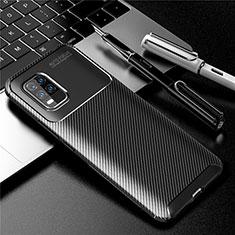 Custodia Silicone Cover Morbida Spigato per Xiaomi Mi 10 Lite Nero