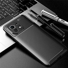 Custodia Silicone Cover Morbida Spigato per Xiaomi Mi 11 5G Nero